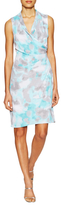 T Tahari Chandra Print Pleat Above The Knee Dress