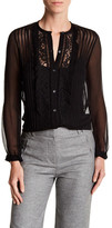 Rebecca Taylor Sheer Lace Blouse
