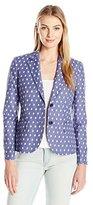 Anne Klein Women's Clipped Jacquard Jacket