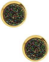 Saachi Multicolor Round Druzy Stud Earrings