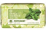 Desert Essence Bar Soap, Peppermint 5 OZ by Pack of 2)