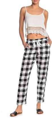 Onia Corey Plaid Linen Cover-Up Pants