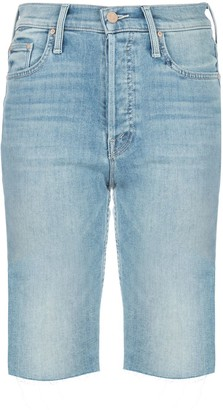 Mother Tomcat skinny denim shorts