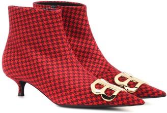 Balenciaga BB printed wool ankle boots