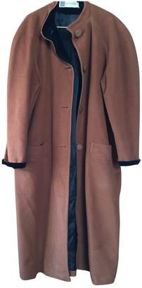 Pierre Balmain Camel Wool Coat for Women Vintage