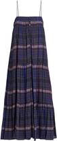Apiece Apart Tangiers sleeveless checked voile dress