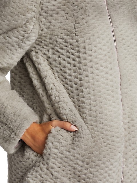 Thumbnail for your product : The Fur Salon Julia & Stella For Textured Mink Fur Reversible Hooded Down Jacket