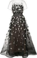 Carolina Herrera embroidered sheer gown