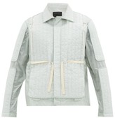 Craig Green Quilted-panel Shell Jacket - Mens - Light Blue