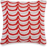 """Kate Spade Rugby Stripe 18"""" Painterly Scallop Dec Pillow"""