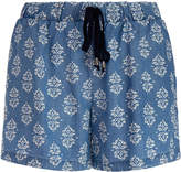 Splendid Blue Medallion Print Shorts