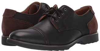 Dockers Murray Cap Toe Oxford (Black Suede/Distressed Synthetic) Men's Shoes