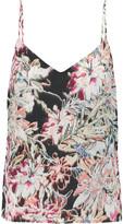 L'Agence Jane printed silk crepe de chine top
