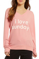 Peace Love World Sunday Comfy Sweatshirt