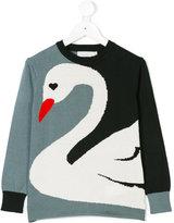 Stella McCartney Lucky Blue Swan Knit jumper