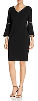 Calvin Klein Bell Sleeve Piping Sheath Dress