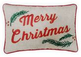 St. Nicholas Square® ''Merry Christmas'' Small Oblong Throw Pillow