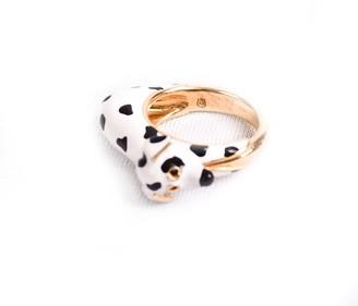 Gianna Dalmatian White Ring