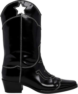 Ganni High Texas Star Western Boots