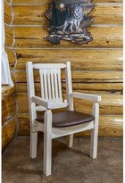 Abella Rustic Arm Chair Loon Peak Upholstery Color: Buckskin, Finish: Ready to Finish