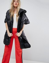 Asos Quilted Cape with Faux Fur Hood