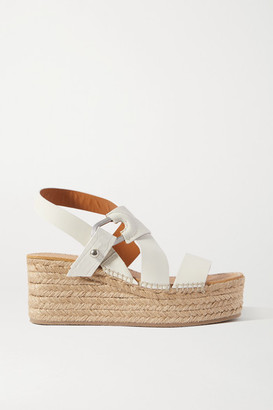 Rag & Bone August Leather Espadrille Platform Sandals - White