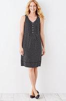 J. Jill Pintucked V-Neck Rayon Dress