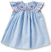 Edgehill Collection Baby Girls 3-9 Months Nautical Striped Smocked Dress