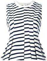 Alexander Wang striped peplum top