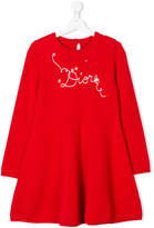 Christian Dior logo embroidery knitted dress