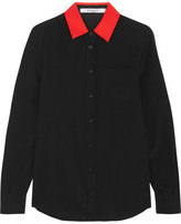 Givenchy Shirt In Black Silk Crepe De Chine - FR42