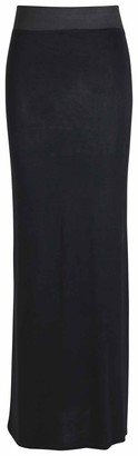Purple Hanger New Ladies Plain Contrast Elastic Waistband Womens Long Straight Maxi Dress Summer Skirt Black Size 14 - 16