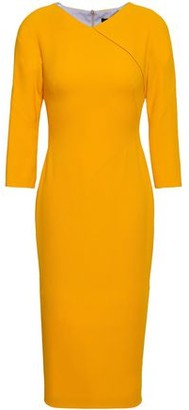 Victoria Beckham Wool And Silk-blend Crepe Dress