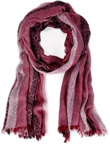 Sole Society Lightweight Tribal Knit Scarf