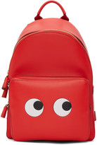Anya Hindmarch Red Mini Eyes Right Backpack