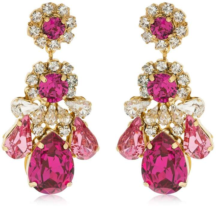 Shourouk Ds Fuchsia Earrings