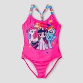 Hasbro My Little Pony Girls' One Piece Swimsuit - Pink