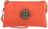 Orange Emblem Crossbody Clutch & Wristlet