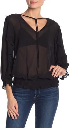 Nanette Nanette Lepore 3/4 Length Ruffle Sleeve Blouse