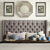 Three Posts Crawley Upholstered Wingback Headboard