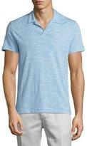 Theory Willem Ocean Slub Polo Shirt