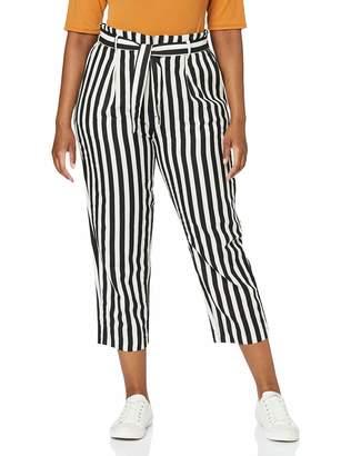 Herrlicher Women's Comfy Black Linen Stripes Trouser