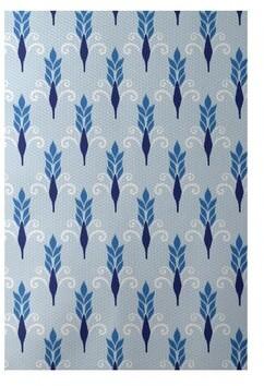 e by design Friendship Print Flatweave Azure Area Rug Rug Size: Rectangle 2' x 3'