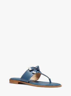 MICHAEL Michael Kors Ripley Leather Slide Sandal