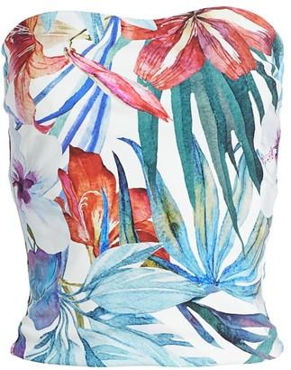 Chiara Boni Halima Floral Bustier Top