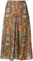 Etro mixed print midi skirt