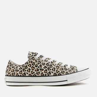 Converse Chuck Taylor All Star Canvas Archive Cheetah Ox Trainers - Black/Driftwood/Light Fawn