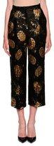 Dolce & Gabbana Jacquard Straight-Leg Cropped Pants