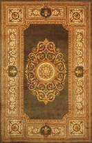 "Momeni Rugs MAISOMA-08GRN790S Maison Collection, 100% Wool Hand Carved & Hand Tufted Traditional Area Rug, 7'9"" x 7'9"""