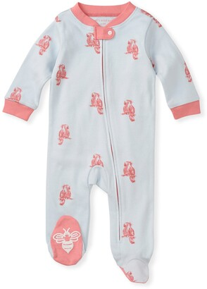 Burt's Bees Pretty Parrot Organic Baby Zip Front Loose Fit Footed Pajamas